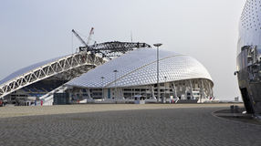 Fisht Olympic Stadium is being reconstructed Royalty Free Stock Images