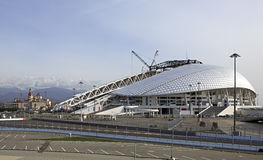 Fisht Olympic Stadium is being reconstructed Stock Image