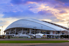 Fisht Olympic stadium in Sochi, Adler, Russia. Sochi Adler, Russia - November 1, 2015: Fisht Olympic stadium built for XXII Sochi winter Olympic games 2013 Royalty Free Stock Image