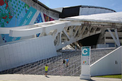 Fisht Olympic Stadium at XXII Winter Olympic Games Stock Images