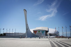 Fisht Olympic Stadium at XXII Winter Olympic Games Royalty Free Stock Photography