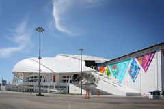Fisht Olympic Stadium at XXII Winter Olympic Games. Sochi, Russia, 4 june 2014.  Winter Olympic Games Park Stock Photography
