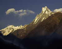 Fishtail. Macchapuchre mountain, Annapurna Conservation Area royalty free stock photos