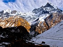 Fishtail (Machhapuchhare) Arkivfoto