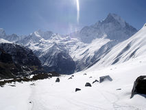 Fishtail Mountain- 6993m Stock Photography