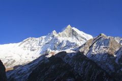 Fishtail peak in Nepal Royalty Free Stock Images