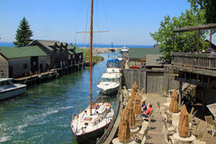 Fishtown in Leland, Michigan Royalty Free Stock Photos