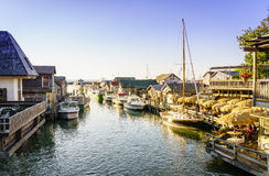 Fishtown. Leland, Michigan, August 8, 2016: Fishtown docks in Leland, Michigan - a popular summer vacation destination Stock Image