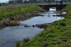 Fishway im Fluss Oude IJssel Stockbild