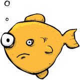 Fishy goldfish cartoon character Stock Images