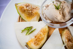 Fishy pate and fruity entree Stock Image