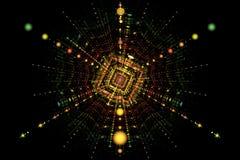 Fisión de la colisión de la partícula ilustración del vector