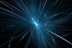 Fisión de la partícula en collider grande del hadron ilustración del vector