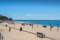 Fisica beach in Santa Cruz, Portugal. Royalty Free Stock Images