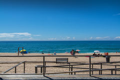 Fisica beach in Santa Cruz, Portugal. Royalty Free Stock Photography
