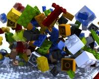 Fisica dei mattoni scompigliata Immagini Stock