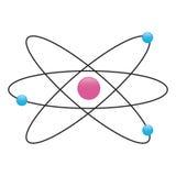 Fisica dell'atomo. Immagini Stock