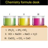 Fisica - scrittorio di formule di chimica royalty illustrazione gratis