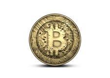 Fisico medica di Bitcoin Fotografia Stock Libera da Diritti