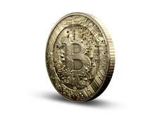 Fisico medica di Bitcoin Fotografie Stock Libere da Diritti