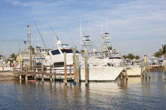 Fisihing boats in Florida Keys Stock Images