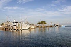 Fisihing boats in Florida Keys Stock Photo