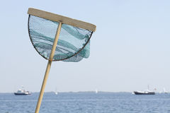 Fising net on the sea side Stock Photo