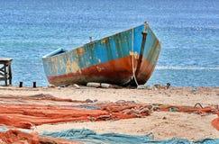 Fisingsboot in de Zwarte Zee stock fotografie