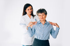 fisioterapeuta Fotos de archivo libres de regalías