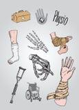 fisioterapia Fotos de archivo libres de regalías