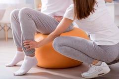 Fisioterapia moderna da reabilitação foto de stock royalty free