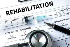 Fisioterapia moderna da reabilitação da REABILITAÇÃO, REHABILIT imagens de stock