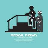Fisioterapia preta do símbolo Fotografia de Stock Royalty Free