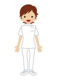 Fisioterapista femminile Immagine Stock