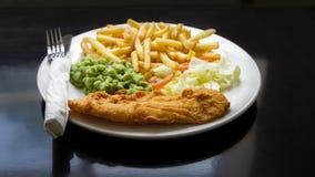 Fisk & chiper Royaltyfri Foto