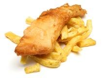Fisk & chiper Arkivbild