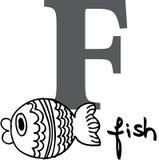 fisk för alfabetdjur f Arkivfoton