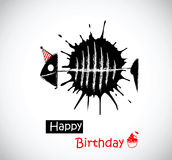 Fisk för lycklig födelsedag stock illustrationer