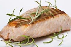 fisk grillad laxsteak Royaltyfria Bilder