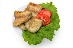 fisk grillad platta royaltyfri foto