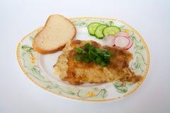 fisk grillad platta Fotografering för Bildbyråer