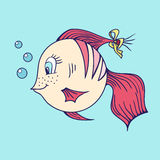 Fisk i havet royaltyfri illustrationer