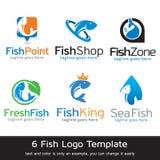 Fisk Logo Template Design Vector Royaltyfri Bild