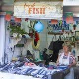 Fisk marknad - Mercado gör Bolhão Fotografering för Bildbyråer