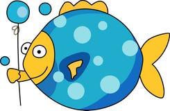 FISK MED BALLONGEN Royaltyfria Bilder