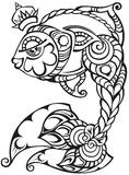 Fisk med kronan som är dekorativ Royaltyfri Bild