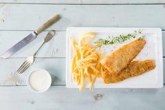 Fisk och chip Arkivbild
