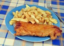 Fisk och chiper Royaltyfria Foton