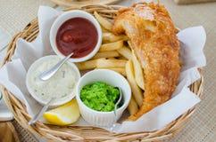 Fisk- och chipuppsättning Royaltyfri Bild