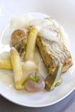 Fisk och grönsak Arkivfoton